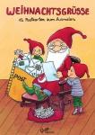 12 Weihnachts Postkarten zum Ausmalen