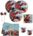 71 Teile Spiderman Web Warriors Deko Set 16 Personen