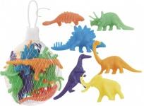 12 kleine Plastik Dinosaurier Neon