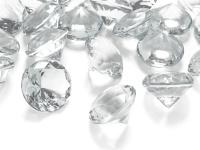 5 Deko Plastik Diamanten klar - 30 mm Durchmesser