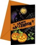 6 Happy Halloween Einladungskarten