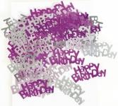 Happy Birthday Konfetti Pink