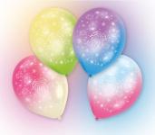 4 bunte LED Ballons Feuerwerk