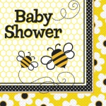 16 Baby Shower Bienchen Servietten