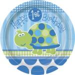 Erster Geburtstag Schildkröte Teller