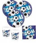 60 Teile Fußball Party Deko Set Blau 20 Personen