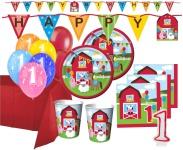 XXL 67 Teile 1. Geburtstag Bauernhof Party Set 16 Personen
