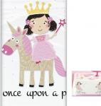 Prinzessin mit Einhorn Tischdecke