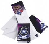 8 Polizei Einladungskarten