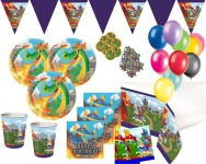 XXL 60 Teile Ritter und Drachen Geburtstags Party Deko Set für 8 Personen