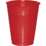 20 große Plastik Becher Klassisch Rot 473 ml