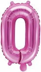 Folienballon Zahl 0 Pink Metallic 35 cm