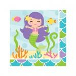 16 kleine Servietten kleine Meerjungfrau