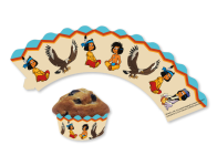 12 Muffin Wraps kleiner Indianer Yakari