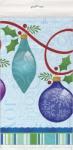 Plastik Tischdecke Weihnachts Ornamente