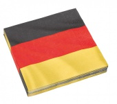 20 Servietten Deutschland Flagge