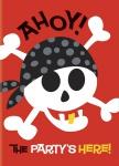 8 Einladungskarten Piraten Spaß