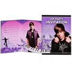 Justin Bieber Einladungskarten
