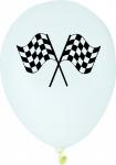 6 Luftballons Zielflagge Formel 1