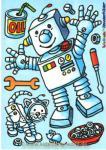 Fensterbild Roboter