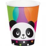 8 Becher Pink Panda Bär