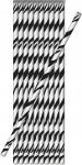 10 Papier Trinkhalme Schwarz Weiß Zebramuster