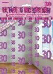 30. Geburtstag Glitzer Girlanden Pink