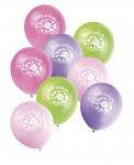 8 Luftballons Erster Geburtstag rosa Marienkäfer