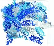 Happy Birthday Konfetti Blau