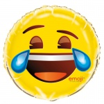 Folienballon lachendes Emoji