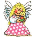Mini Glitter Sticker Engel rosa Punkte