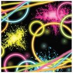 16 kleine Servietten Knicklicht Neon Raver Party
