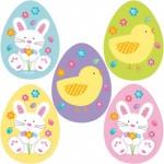 10 Ostern Pappschilder