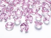 10 Deko Plastik Diamanten rosa - 20 mm Durchmesser