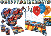 XL 60 Teile Blaze und die Monstermaschinen Party Deko Set für 8 Kinder