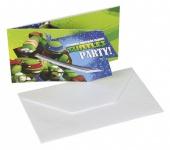 6 Einladungskarten Ninja Turtles