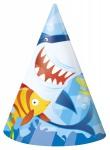 8 Party Hütchen Haifisch Freunde