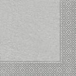 Kleine Premium Silber Glanz Servietten
