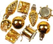 kleines Weihnachtspotpurri Set 14 Stück in Gold