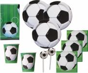 67 Teile Fußball Party Deko Set für 16 Personen