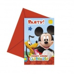 6 Micky Maus Clubhaus Einladungskarten