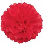 1 großer Papier Dekoball Rot