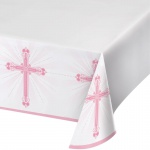 Tischdecke rosa Kreuz
