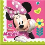20 Servietten Minnie Happy in Pink