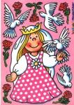 Fensterbild Prinzessin Tauben