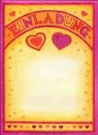 12 Einladungen Herzchen