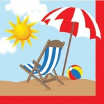 18 kleine Beach Party Servietten