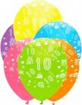 24 bunte Luftballons zum 10. Geburtstag