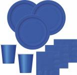 36 Teile Party Deko Set Königsblau für 8 Personen