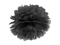 Papier Dekoball Schwarz 25 cm Durchmesser PomPom